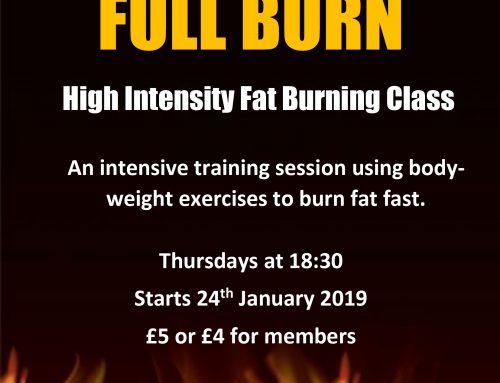 NEW CLASS – Full Burn
